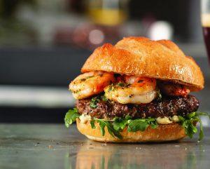 Sauteed Shrimp on a burger